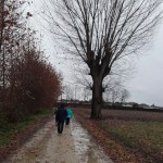 Camminando sotto la pioggia a fine Novembre